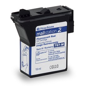 Red Ink Cartridge for mailstation 2 postage meters